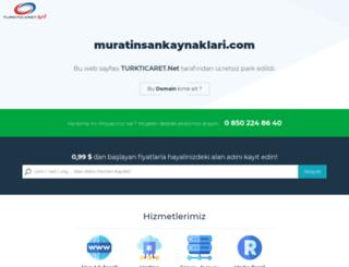 muratinsankaynaklari.com screenshot