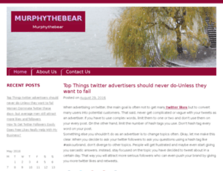murphythebear.com screenshot