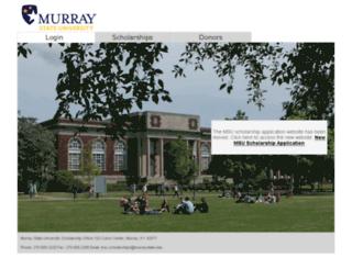 murraystate.starsscholarshipsonline.com screenshot