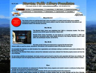 murrietalibraryfoundation.org screenshot