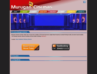 murugancinemas.in screenshot