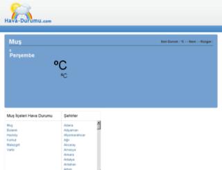 mus.hava-durumu.com screenshot