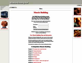 muscle-building.net screenshot
