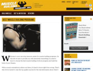musclebuildingprograms.org screenshot