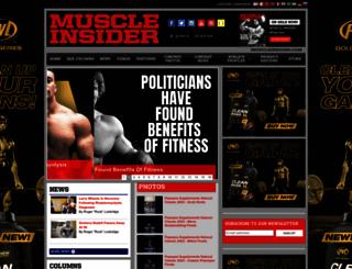 muscleinsider.com screenshot