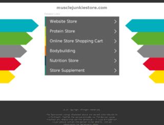 musclejunkiestore.com screenshot