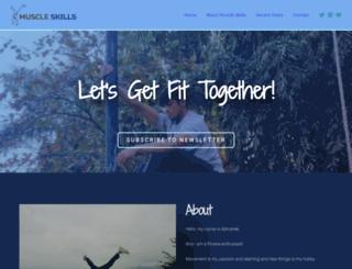 muscleskills.com screenshot