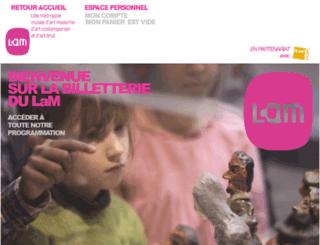 musee-lam.fnacspectacles.com screenshot