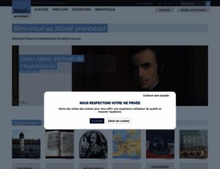 museeprotestant.org screenshot