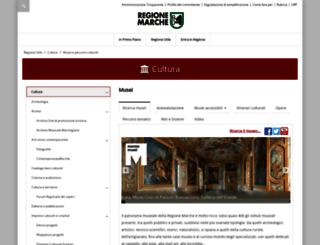 musei.marche.it screenshot