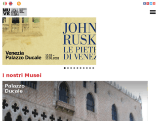 museiciviciveneziani.it screenshot