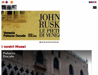 museiciviciveneziani.it screenshot
