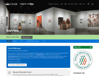 museum.csusb.edu screenshot