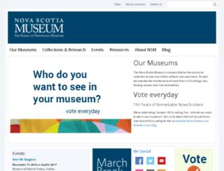 museum.gov.ns.ca screenshot