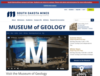 museum.sdsmt.edu screenshot