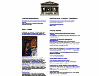 museumofconceptualart.com screenshot