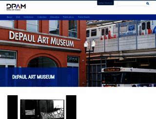 museums.depaul.edu screenshot