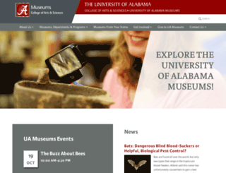 museums.ua.edu screenshot