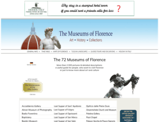 museumsinflorence.com screenshot