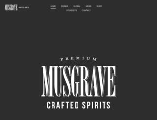musgravegin.co.za screenshot