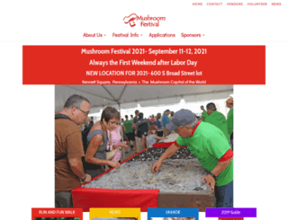 mushroomfestival.org screenshot