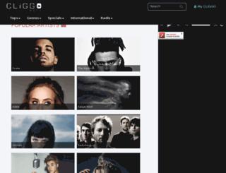 music-beta.cliggo.com screenshot