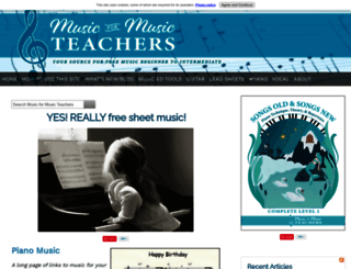 music-for-music-teachers.com screenshot