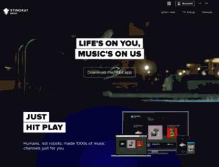 music-international.stingray.com screenshot