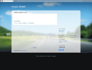 music-sheet-rahul.blogspot.com screenshot