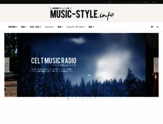 music-style.info screenshot