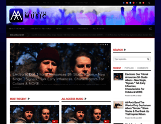 music.allaccess.com screenshot