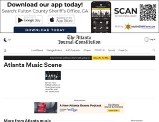 music.blog.ajc.com screenshot