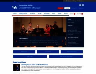 music.buffalo.edu screenshot