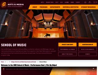 music.cmich.edu screenshot