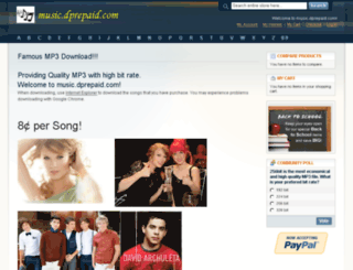 music.dprepaid.com screenshot
