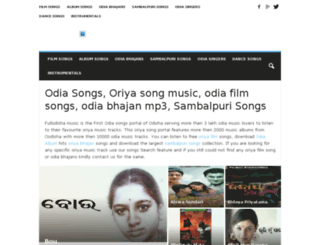 music.fullorissa.com screenshot