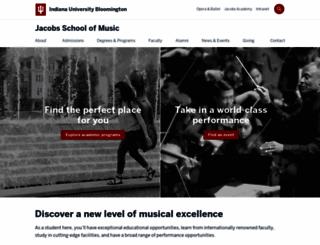 music.indiana.edu screenshot