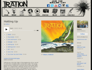 music.irationtheband.com screenshot