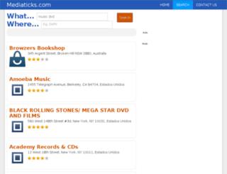music.mediaticks.com screenshot