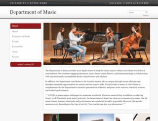 music.nd.edu screenshot