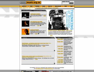 music.org.za screenshot