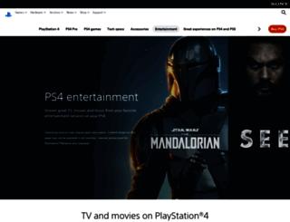 music.sonyentertainmentnetwork.com screenshot