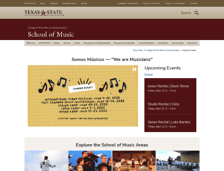 music.txstate.edu screenshot