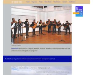 music.ucsc.edu screenshot