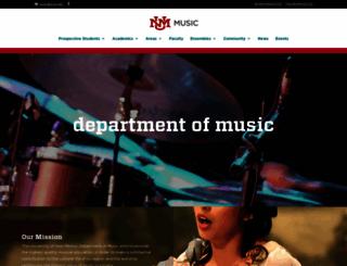 music.unm.edu screenshot