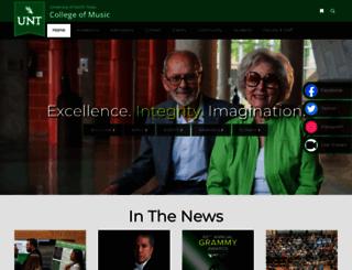 music.unt.edu screenshot