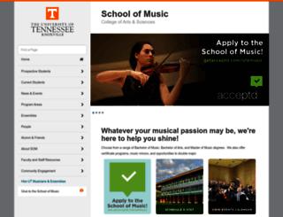music.utk.edu screenshot