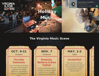 music.virginia.org screenshot