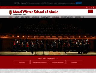 music.wisc.edu screenshot