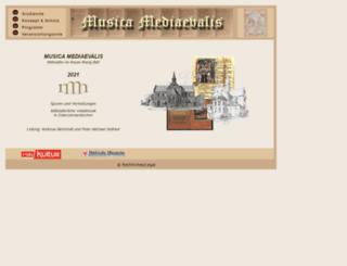 musica-mediaevalis.de screenshot